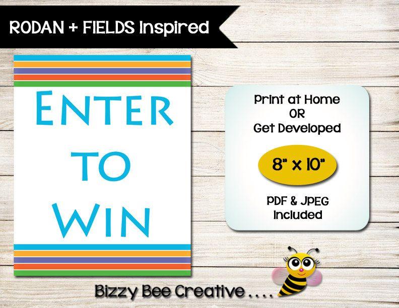 Rodan  Fields  Gift Certificate  Gift Card  Customized  Print