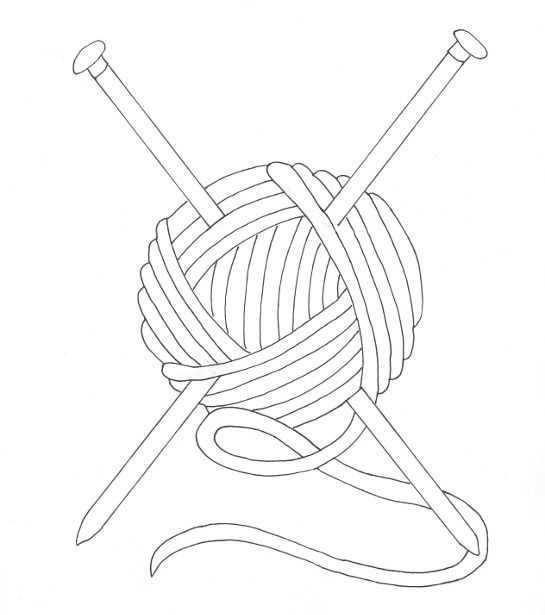 Ball Of Yarn Coloring Page