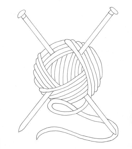 ball of yarn coloring page wee folk art - Coloring Book Yarns
