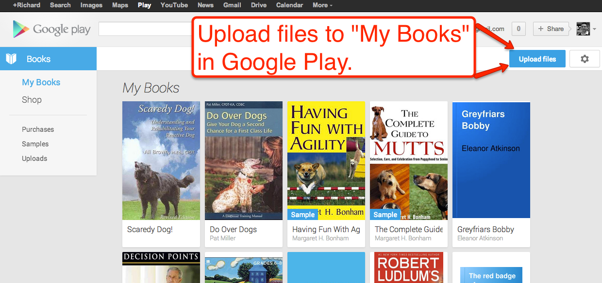 Upload Your Own Pdfs And Epubs To Google Play Books Play Book Free Technology Books