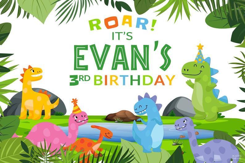 Dinosaur Backdrop Dinosaur Birthday Dinosaur Party Dinosaur Etsy In 2021 Dinosaur Birthday Dinosaur Birthday Party Dinosaur Party