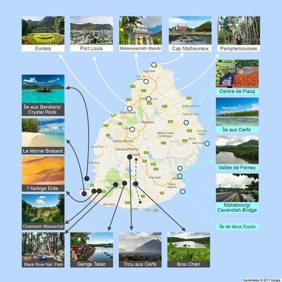 island karte mit sehenswürdigkeiten Mauritius Sehenswürdigkeiten: Die schönsten Orte auf der  island karte mit sehenswürdigkeiten