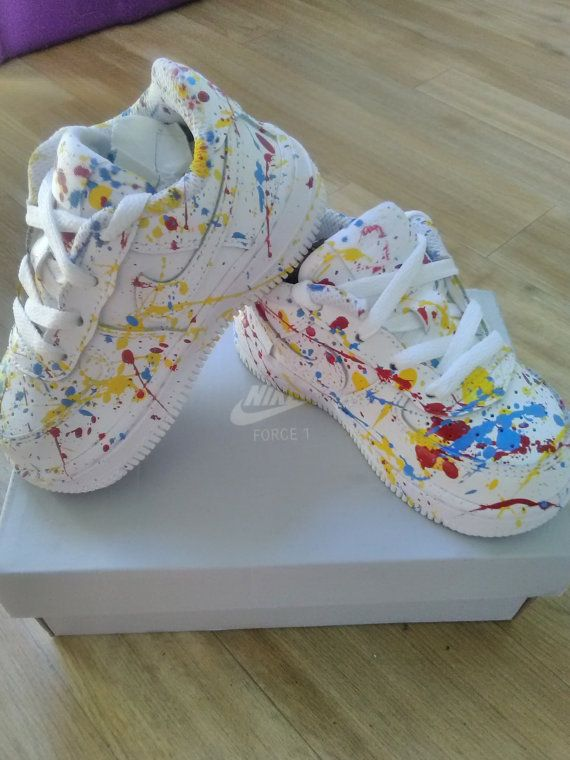 sports shoes aa227 319c9 Custom Paint Splatter Air Force Ones by CockyShop on Etsy
