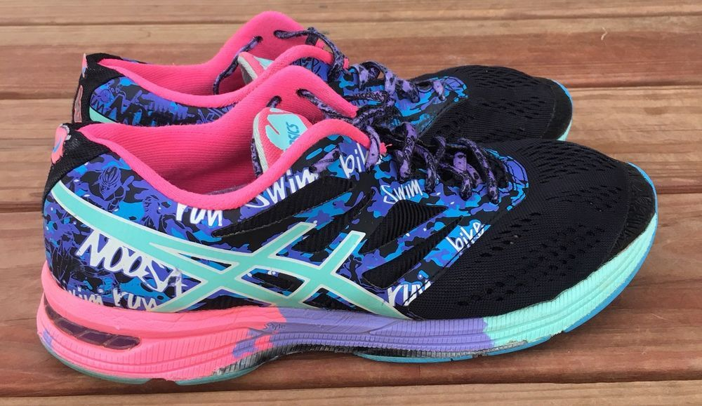 more photos bf036 a3c91 Asics GEL-Noosa Tri 10 Women s Running Shoes Size 9 Black Pink Athletic  T580Q   eBay