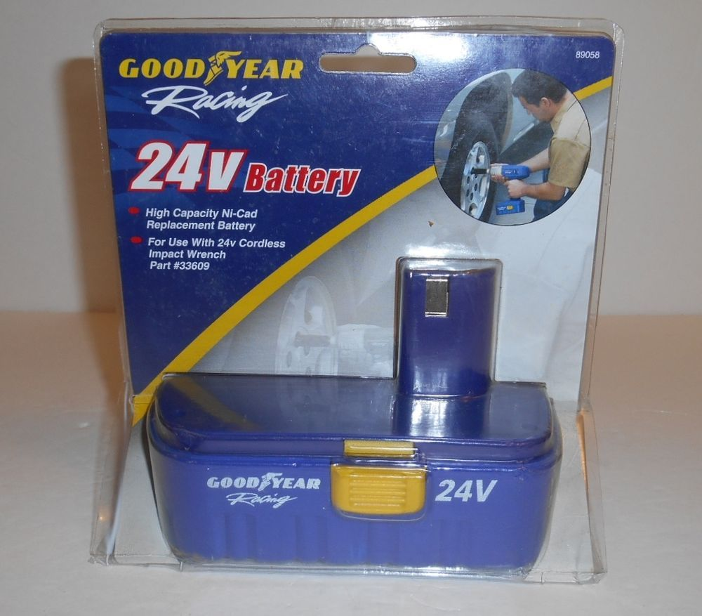Good Year Racing 24v Battery 33609 Use With Cordless Impact Wrench Nip Goodyear