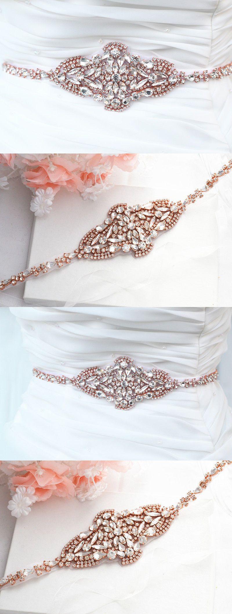 Gold belt for wedding dress  Belts and Sashes  Rose Gold Wedding Belt Bridal Belt Sash