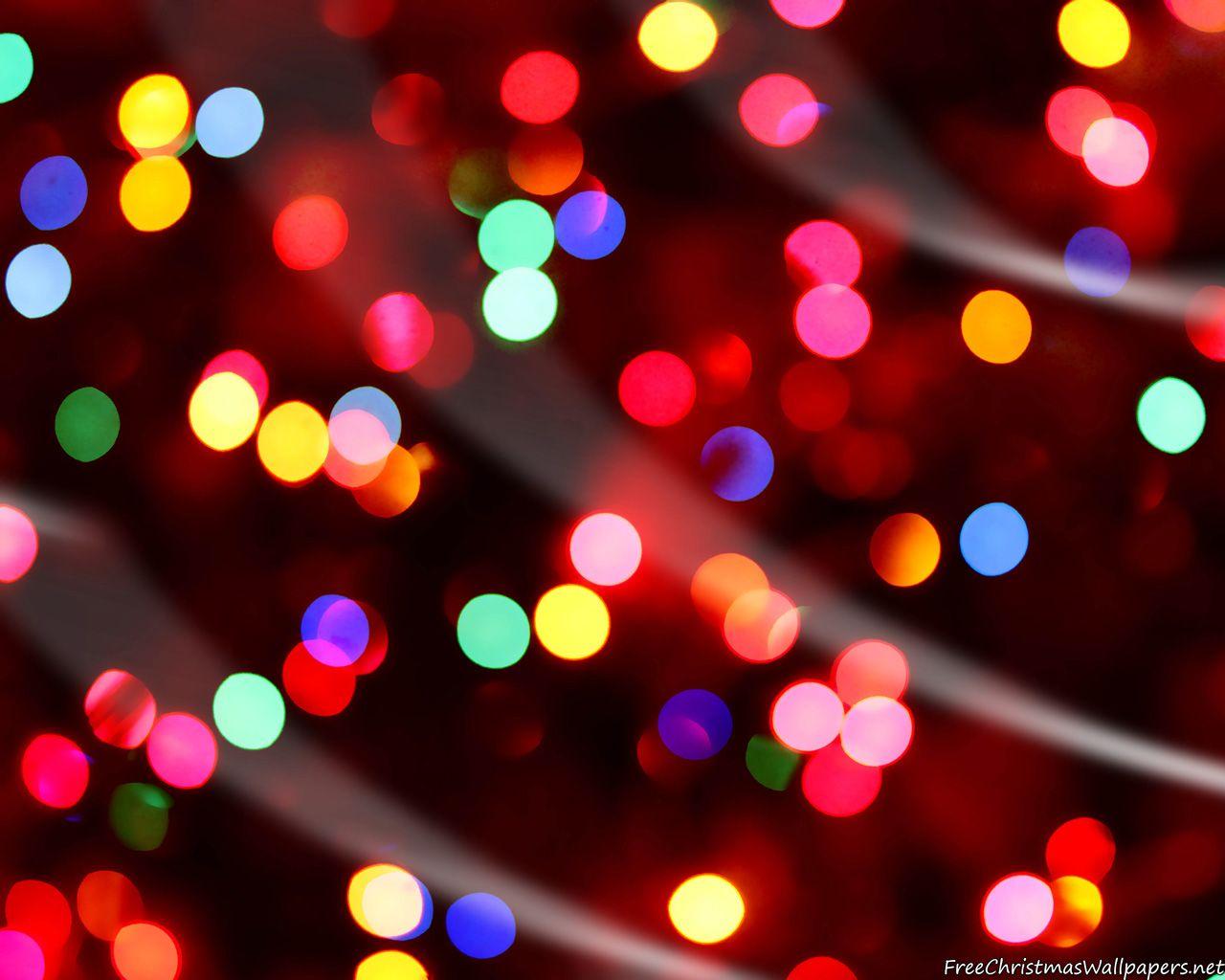 Hd Christmas Celebration Lights Christmas Lights Wallpaper