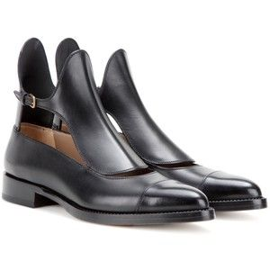 Cut-out leather ankle boots Francesco Russo zQWdIwnOW
