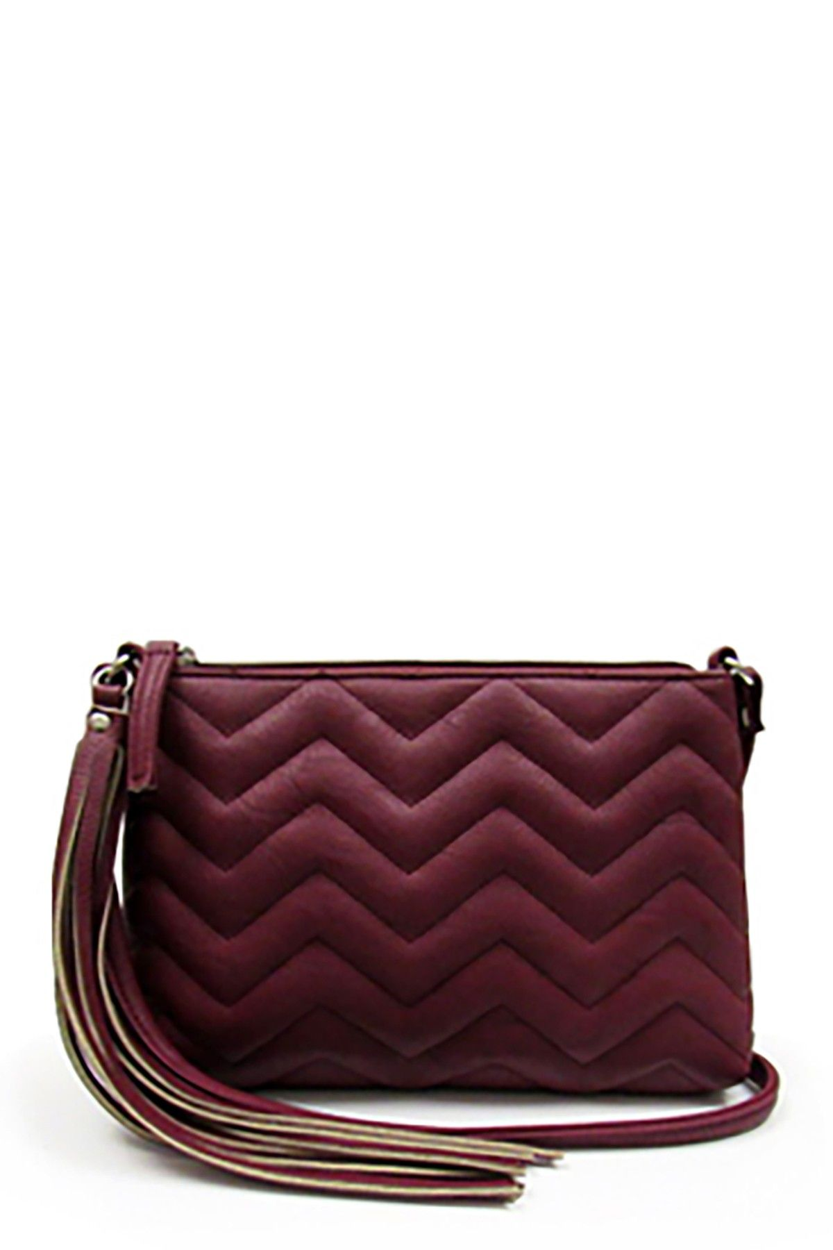 OMG! Accessories Quilted Chevron Crossbody Chevron