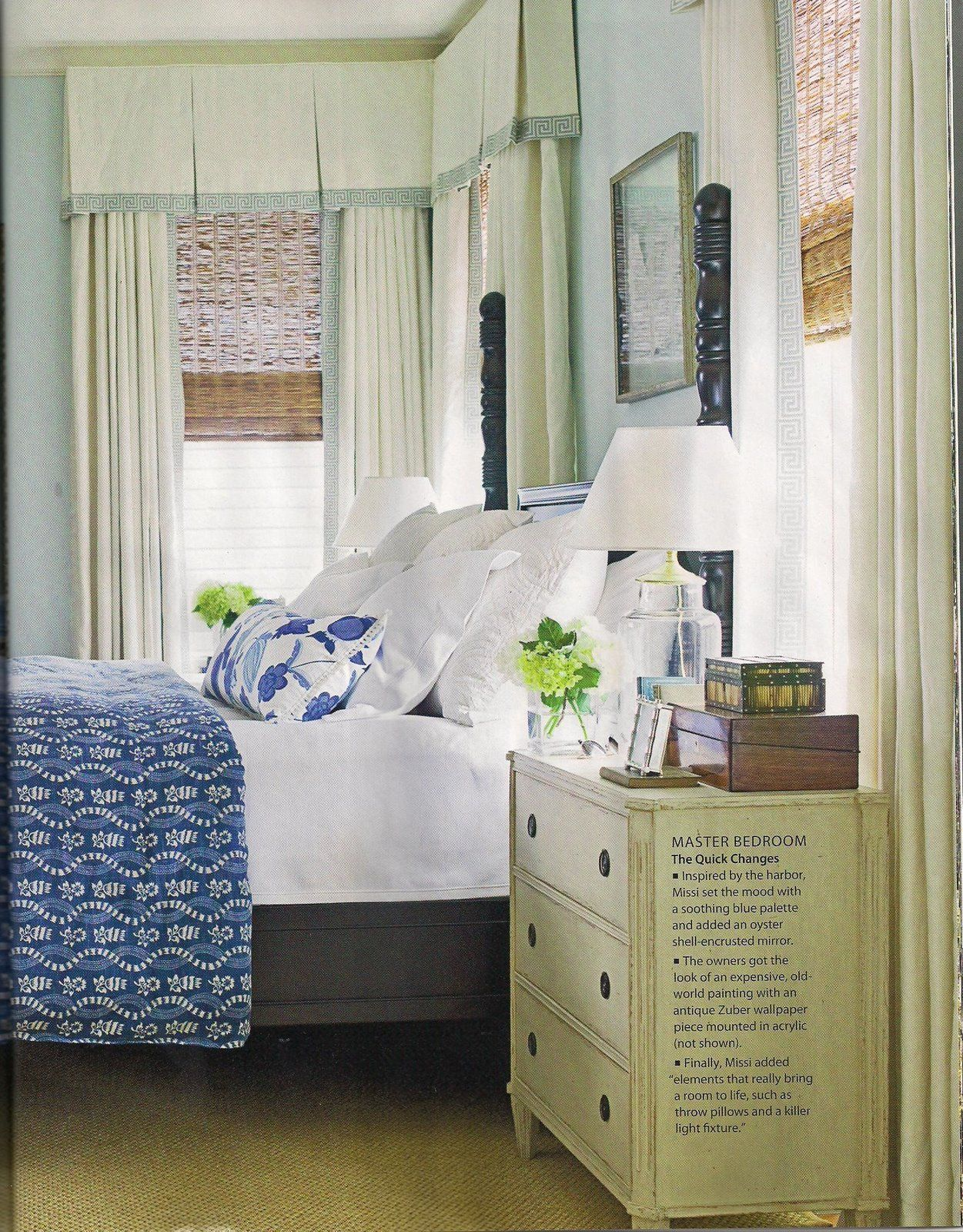 Simple Pleated Valances With Pleats Amp A Contrasting Border