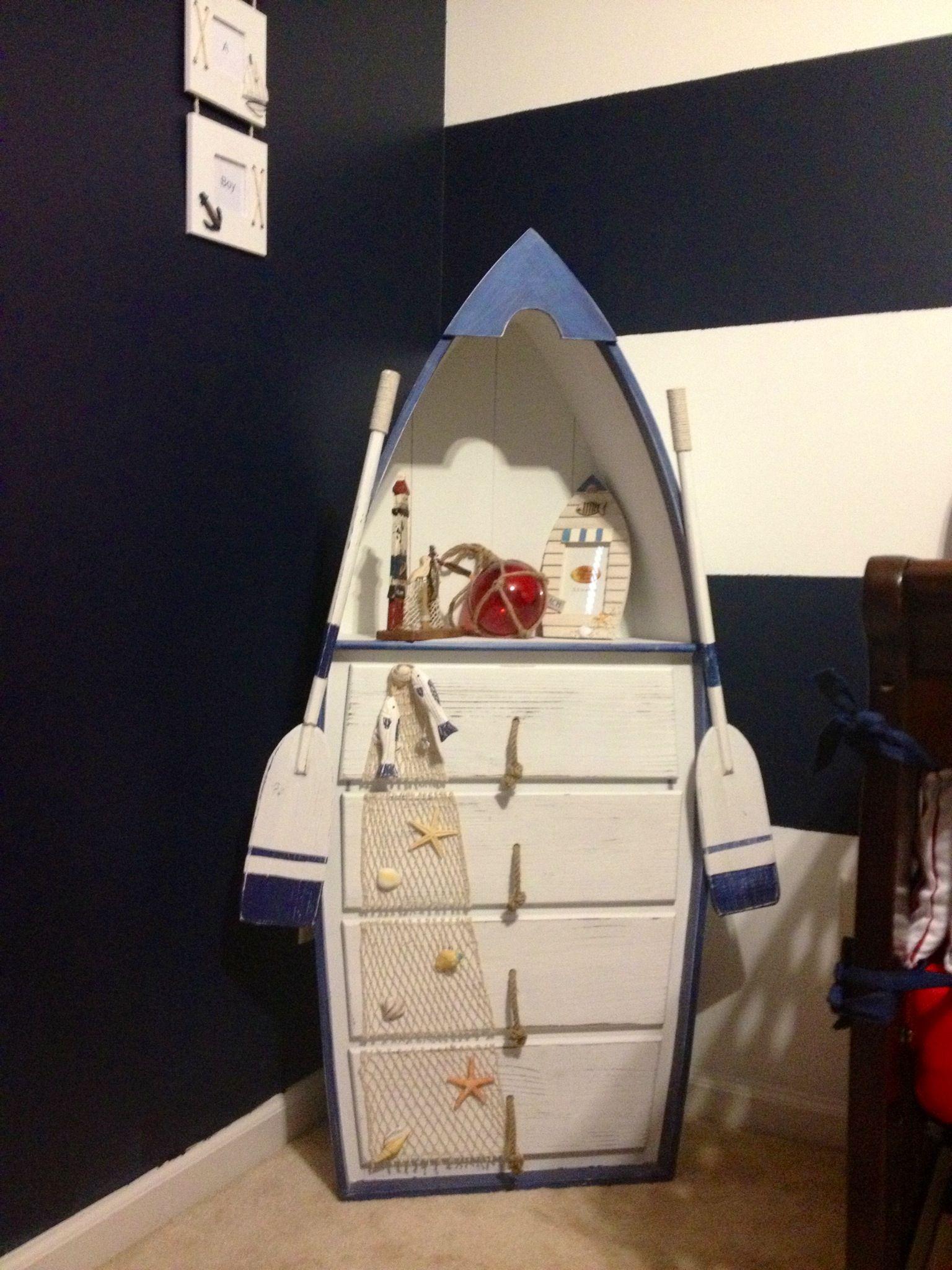 Kastje voor op de kinderkamer met thema boten ...