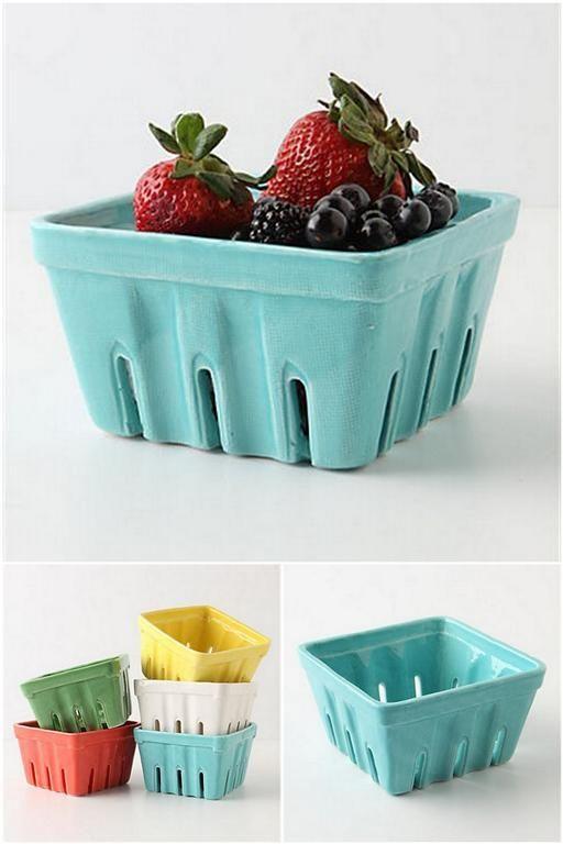 f5c71a8e4b76e Painted Ceramic Berry Basket | Sunday Farmer's Market Dream | Basket ...