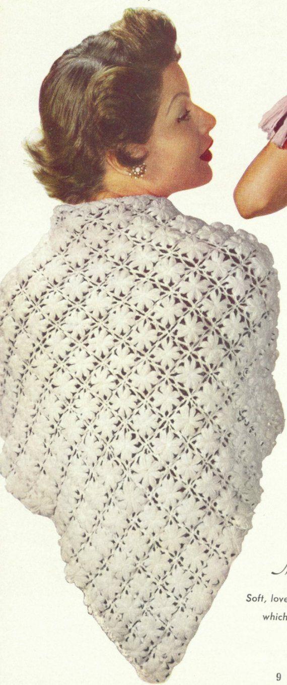Vintage Crochet Shawl Pattern Pdf Marguerite In 2018 Crochet