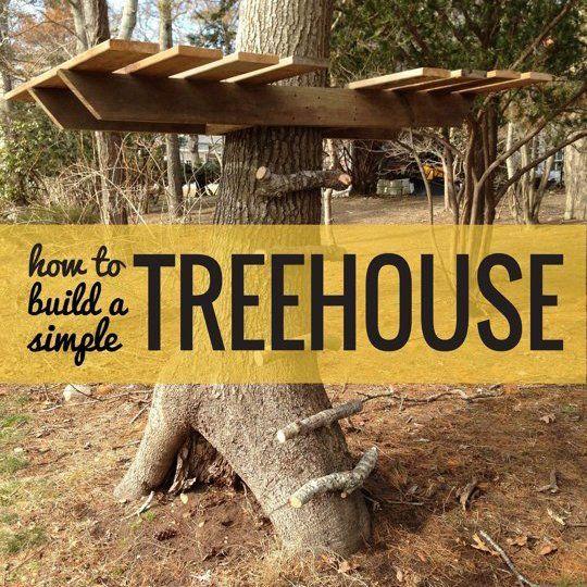 une cabane pour jouer tout l 39 t arbres et comment. Black Bedroom Furniture Sets. Home Design Ideas