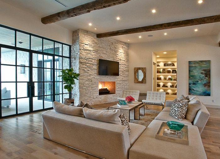 1001 Ideen F 252 R Steinwand Wohnzimmer Zum Inspirieren