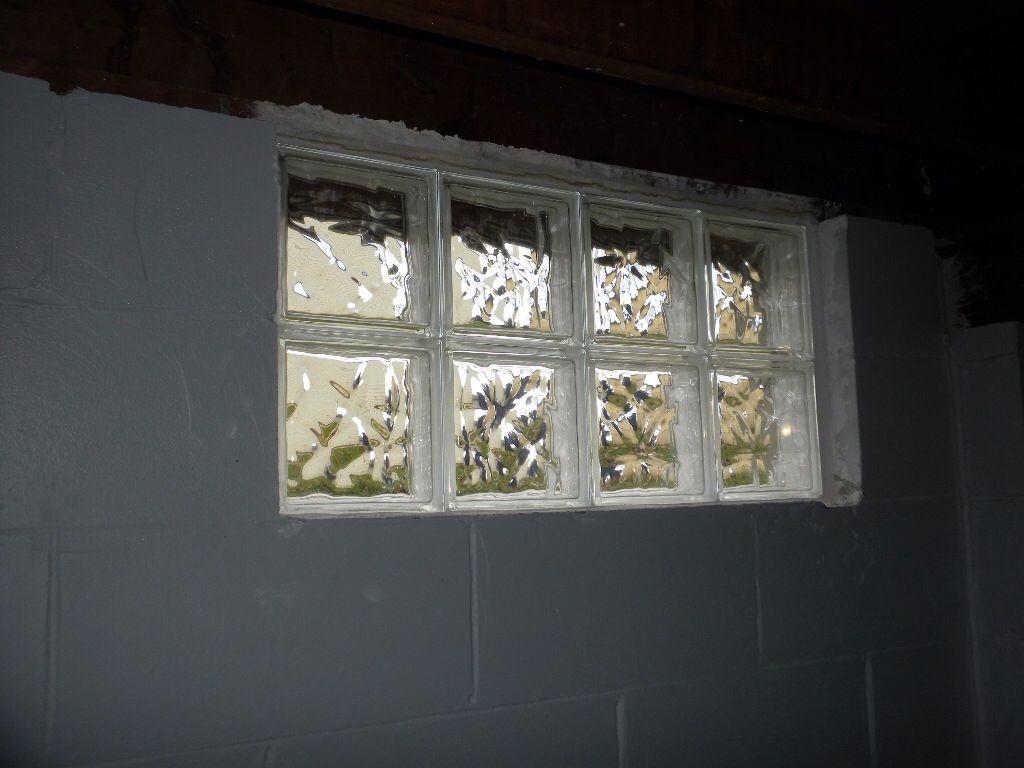 Glass Block Window No Vent Basement Glass Blocks Glass Block Windows Windows