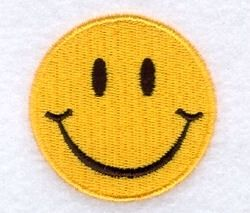 Groovy Smiley Face - 4x4   Mini Designs   Machine Embroidery Designs   SWAKembroidery.com Starbird Stock Designs