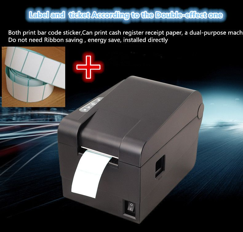 new 1 roll label paper+ Barcode label printers Thermal clothing - free shipping label maker