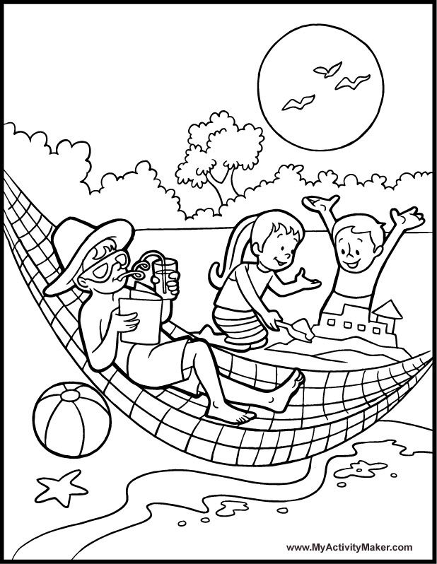 Summer Coloring Sheets For Kids 5075 Pics To Color Yaz Mevsimi
