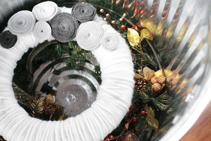 Round Trash Can To Store Wreaths Wreath Storage Home Organization Hacks Mind Blown