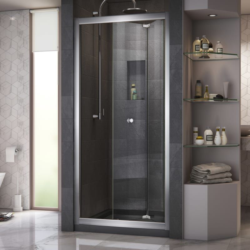Dreamline Shdr 4532726 Butterfly 72 High X 31 1 2 Wide Pivot Framed Shower Doo Chrome Showers Shower Doors Bifold Shower Door Shower Doors Framed Shower Door