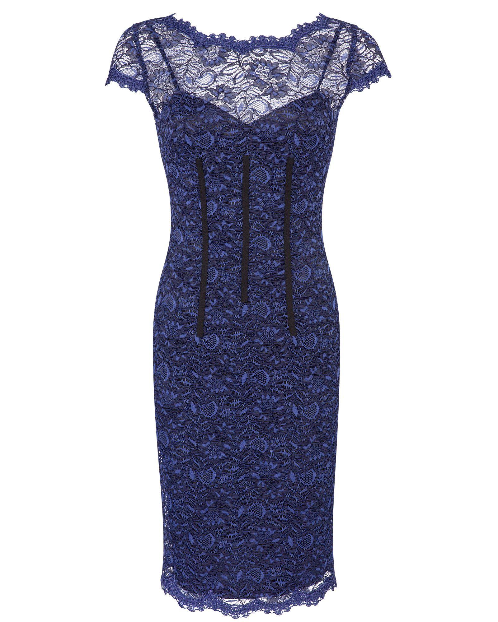 Midnight Stretch Lace Sheath Dress Image 0