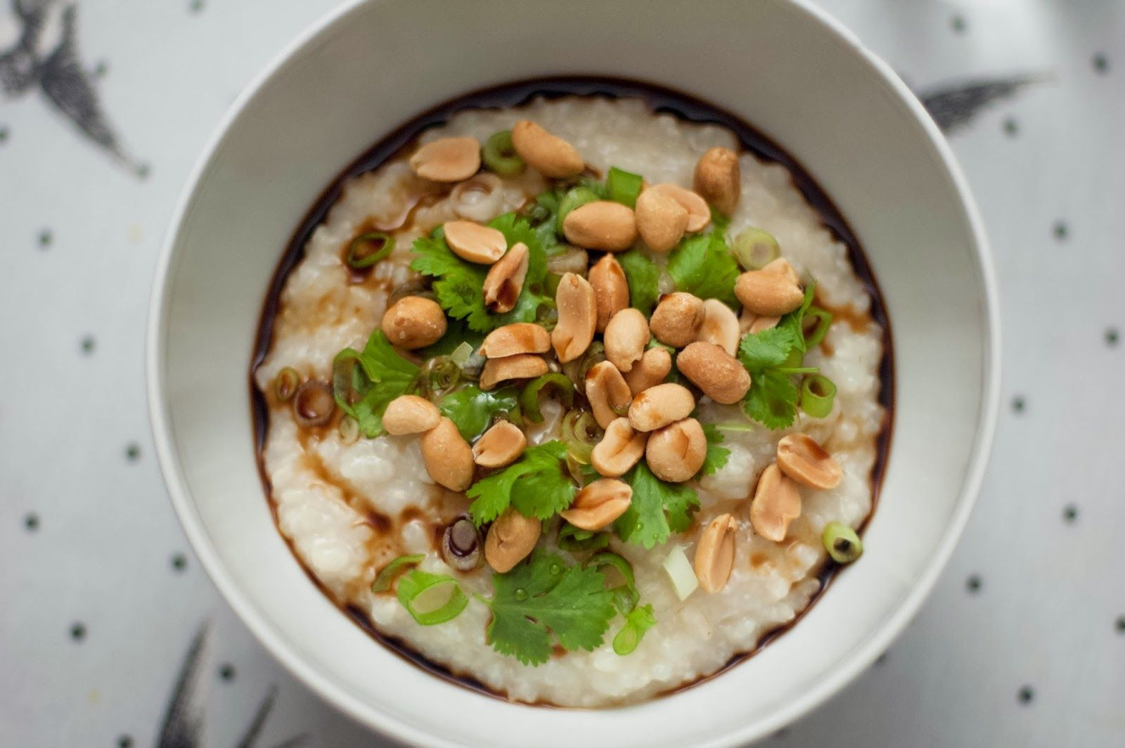 Matblogg: Asiatisk grøt med peanøtter/Congee