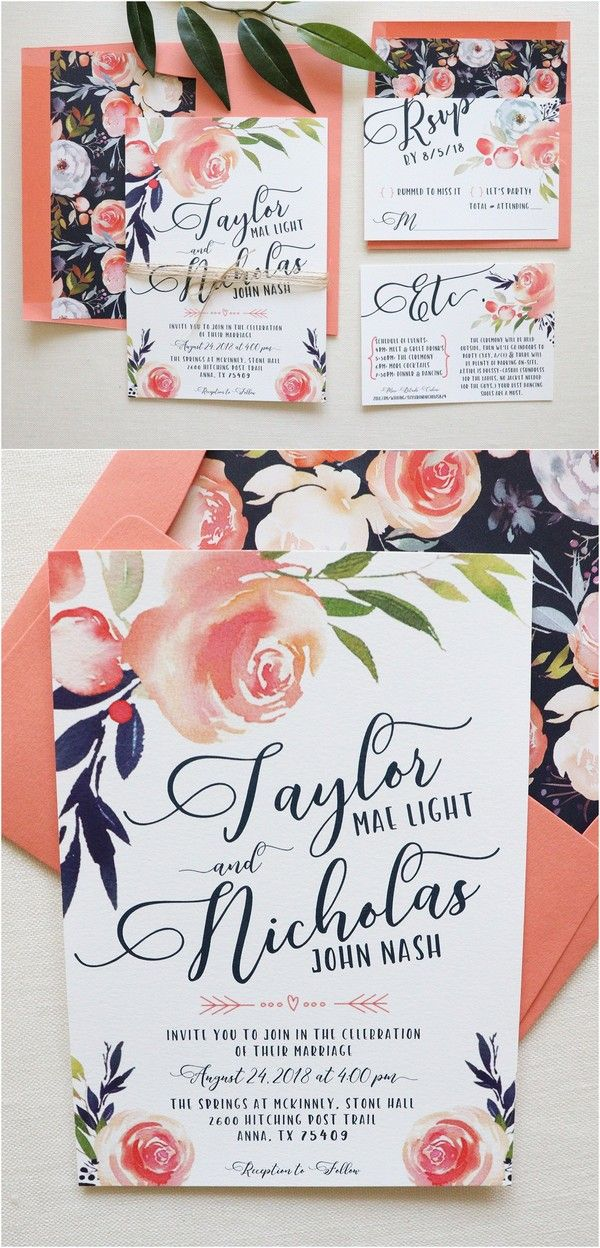 Pantone Color Of The Year 2019 26 Living Coral Wedding Ideas Emmalovesweddings Coral Wedding Invitations Chic Wedding Invitations Beach Wedding Invitations