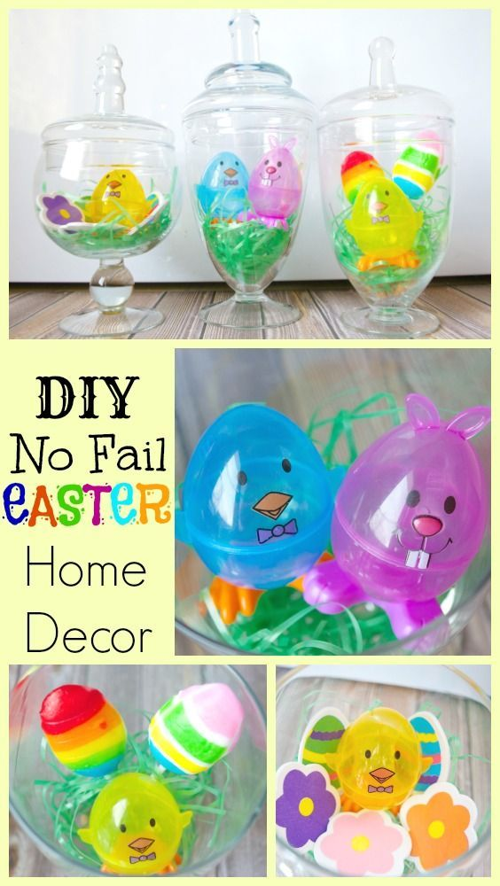 DIY NO FAIL Easter Home Decor Apothecary Jars Kids - Family - Home