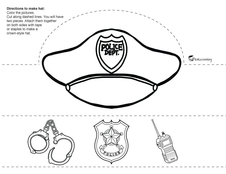 Occupation Hats Coloring Pages
