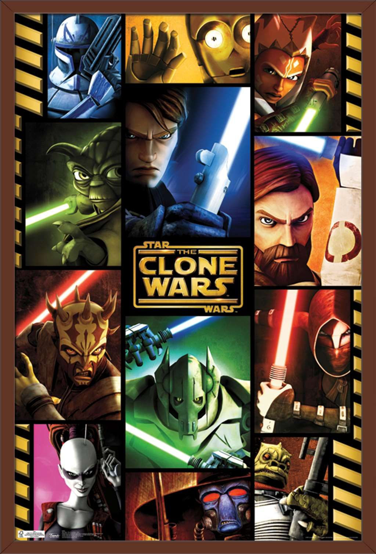 Star Wars: The Clone Wars - Grid Poster