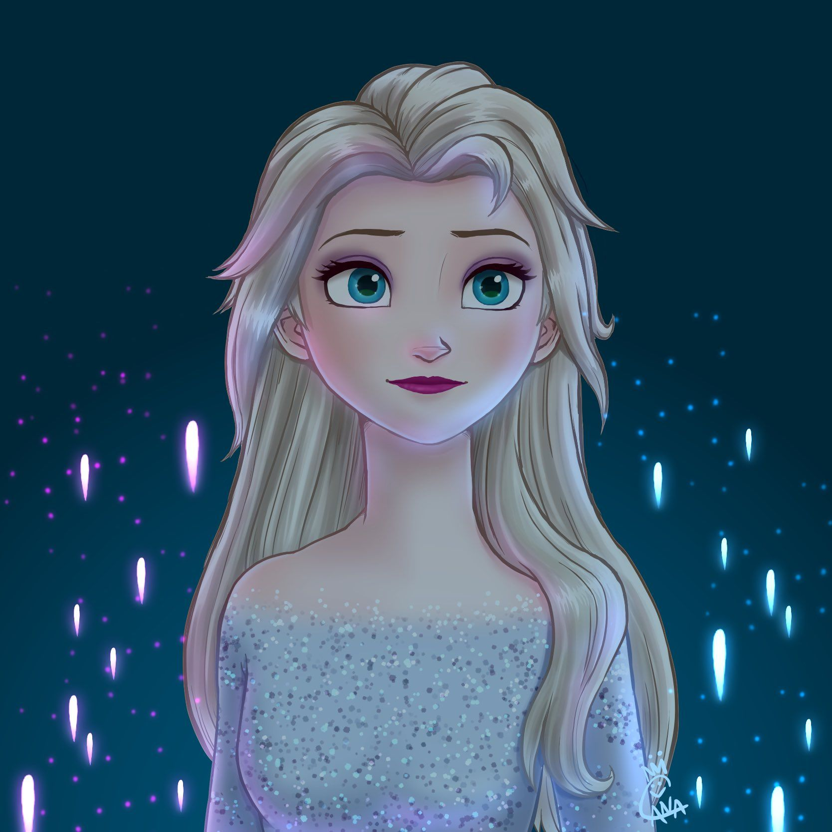 Frozen 2 Fan Art Elsa In 2020 Frozen Art Disney Princess Frozen Disney Princess Wallpaper
