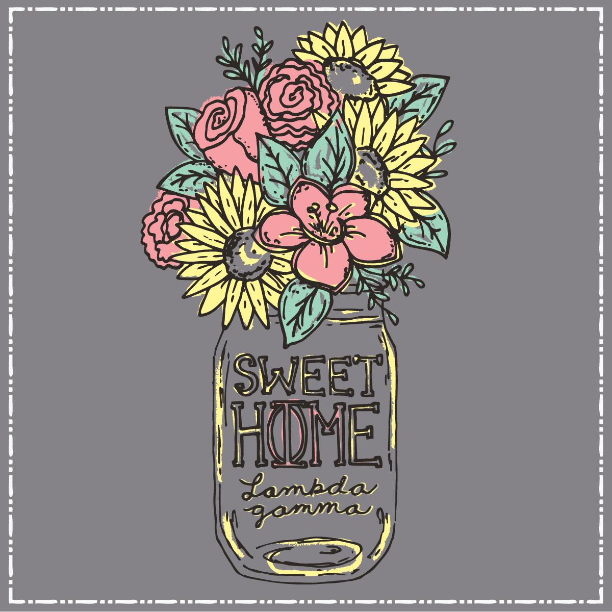 Sweet Home Phi Mu. Geneologie | Greek Tee Shirts | Greek Tanks | Custom  Apparel