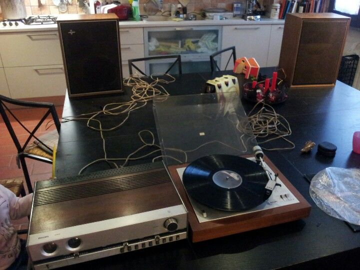 Philips 408 turntable & Philips 520 amplifier