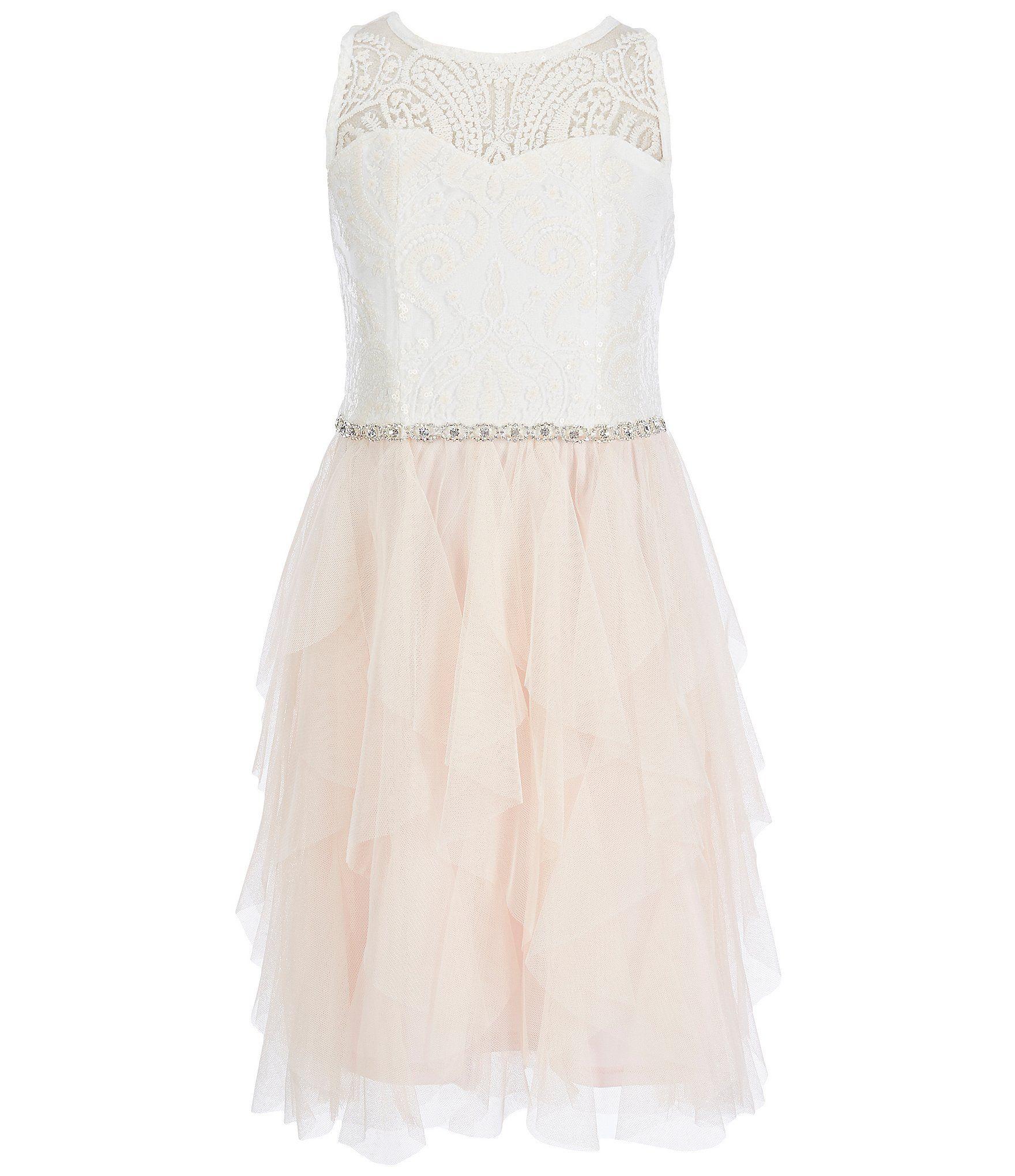 955d122ea Rare Editions Big Girls 716 Embroidered Cascade Dress  Dillards ...