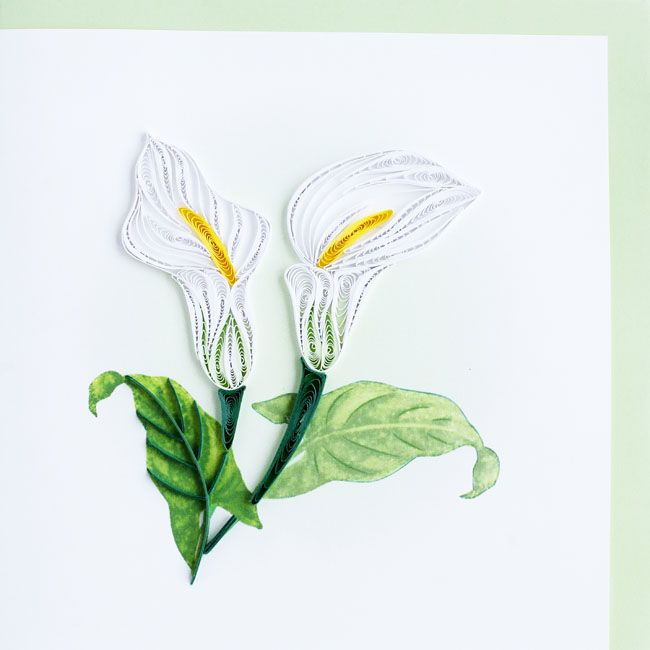 Calla Lily Quilled Card by Quilling Card  | Available at Poeme