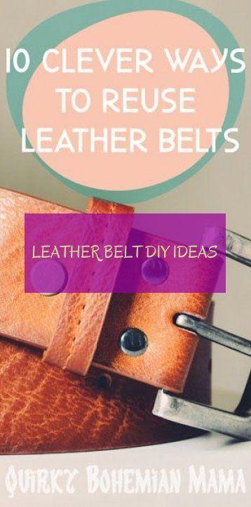 leather belt diy ideas
