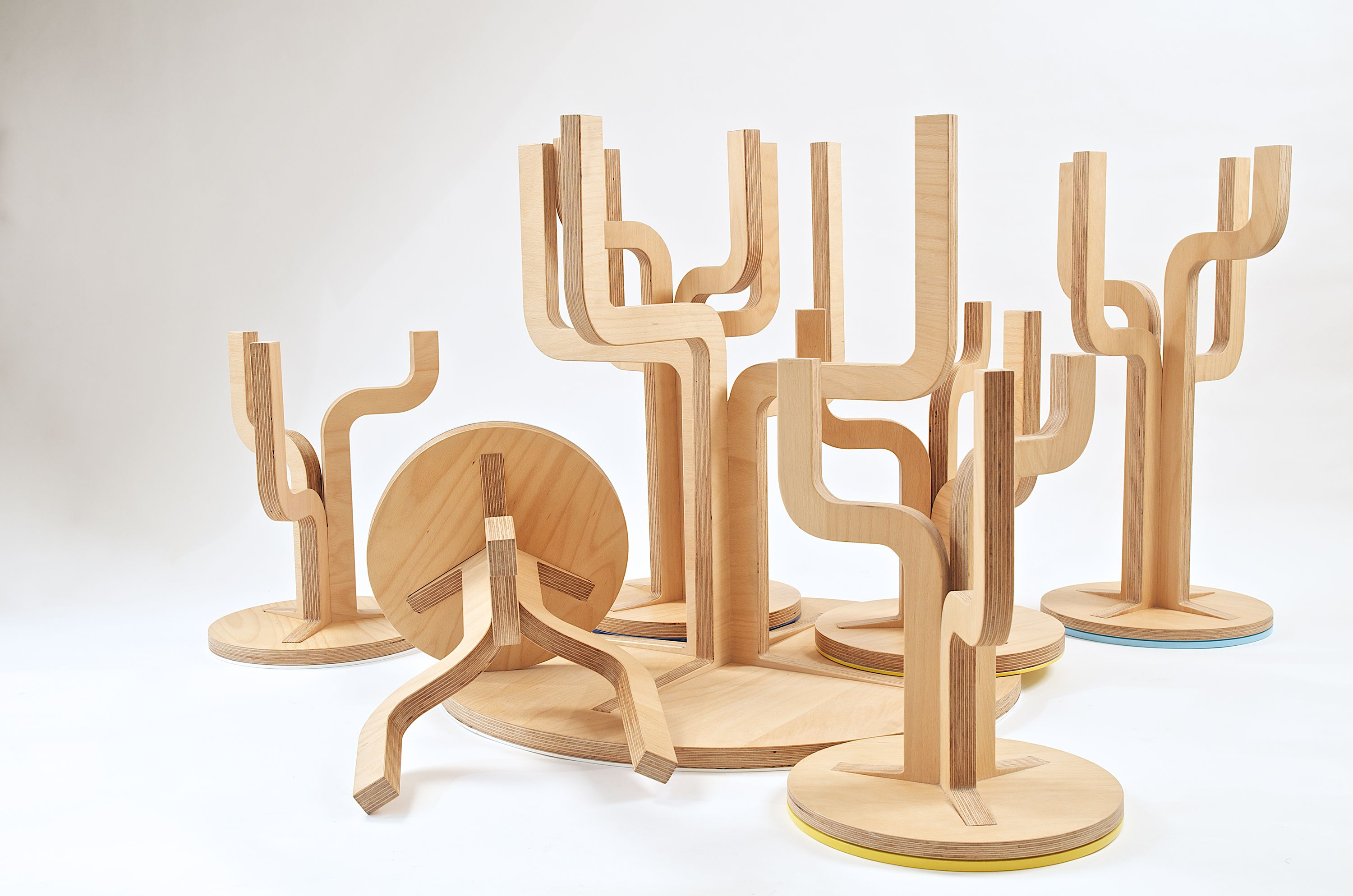 Twig Table And Chairs Made From Stratified Beech Wood