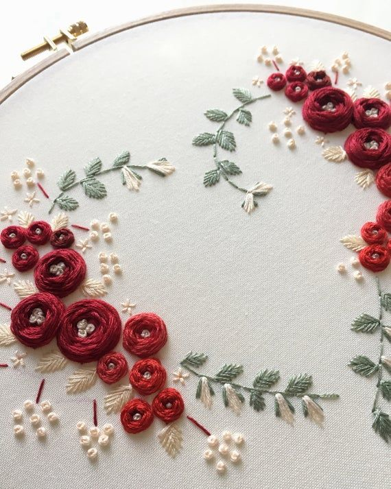 Art de cerceau de broderie en forme de coeur   – Embroidery
