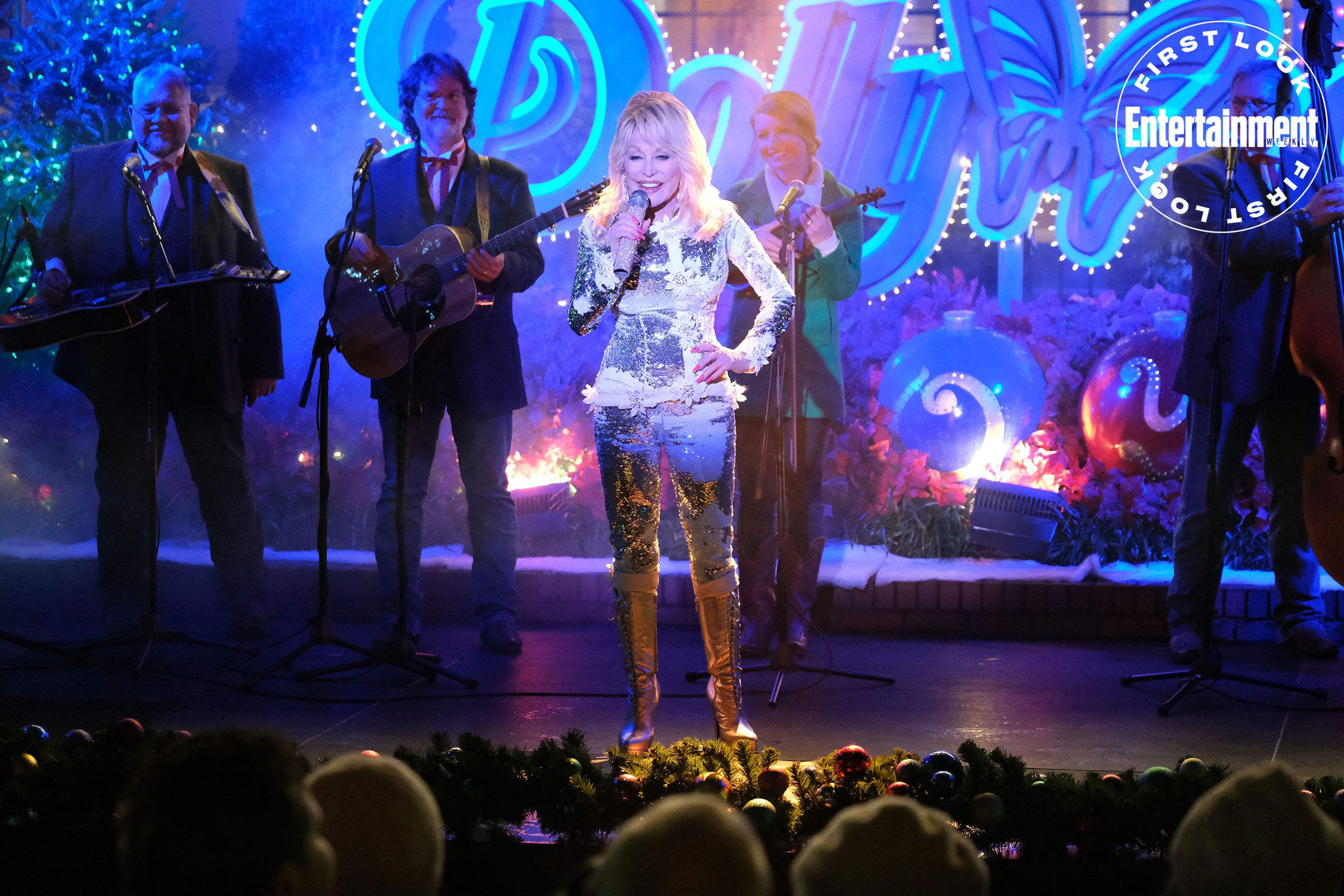 Human snow globes! Dolly Parton! See first photos of