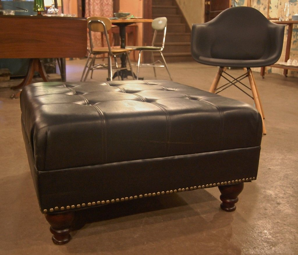 Surprise Your Guests With Leather Coffee Table Large Ottoman