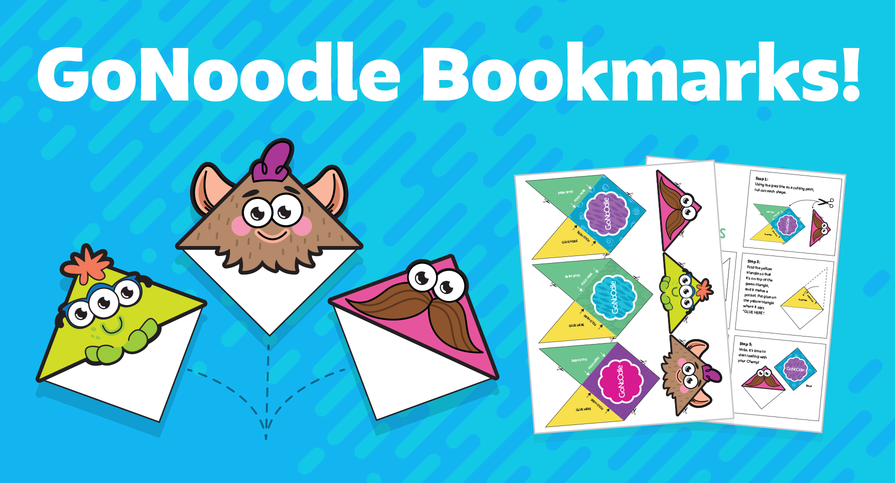 GoNoodle Boomarks Champs love to read! Download these