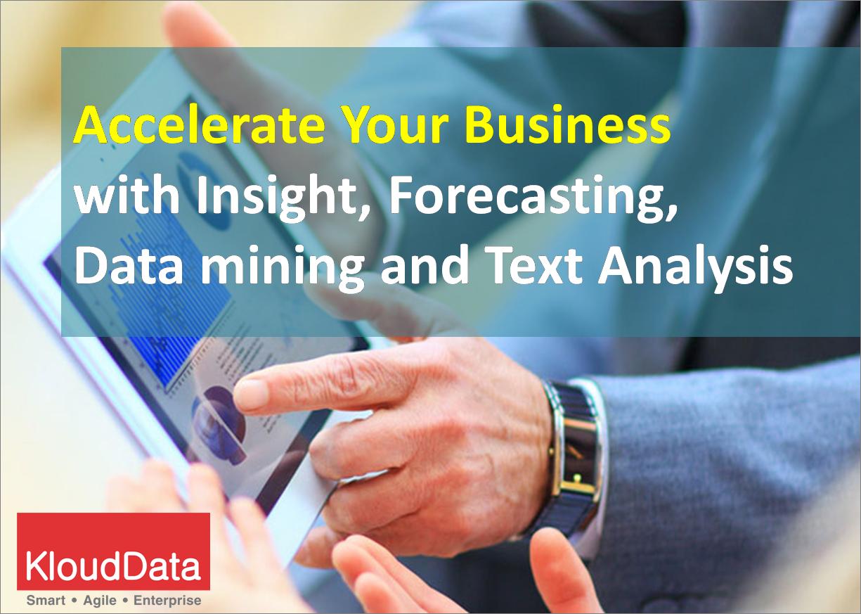 Advanced Analytics Text analysis, Analytics, Data mining