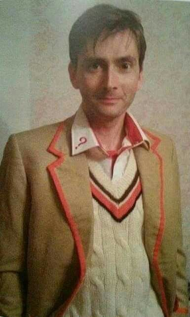 Tennant dressed as the 5th Doctor!