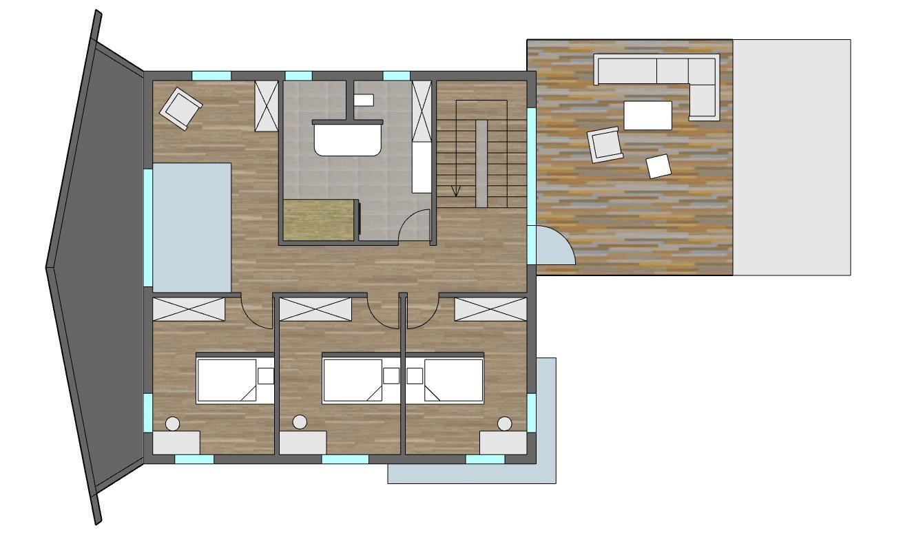Grundriss OG Toskanahaus | 3D Entwurf und Bauplanung | Pinterest