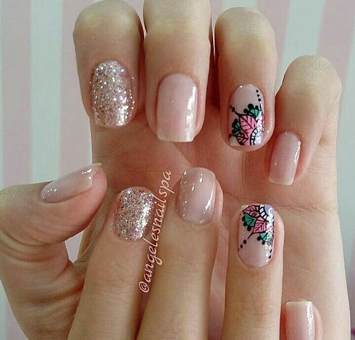 uñas acrilicas sencillas y bonitas | Nail designs, Nails
