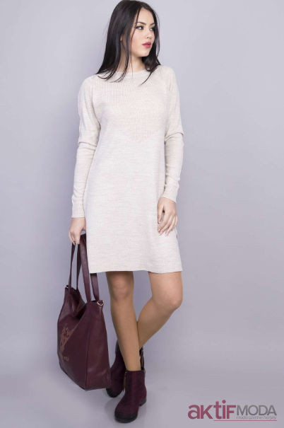 Beyaz Triko Elbise Kombinleri 2019 Moda Elbise Triko