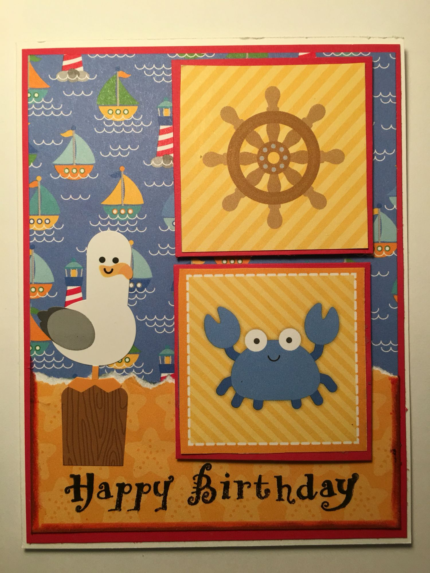 Cby happy birthday greeting card child made 13 cards from the cby happy birthday greeting card child made 13 cards from the doodlebug design exclusive scrapbooking made simple april bundle called anchors aweigh m4hsunfo