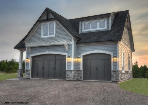 Just Repainted The House Grey I Like The Dark Garage Doors Grey Exterior House Colors Gray House Exterior Exterior House Colors