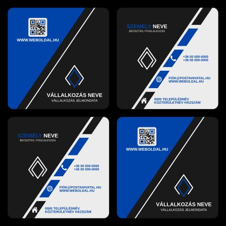 Uzleti Nevjegykartya Maskent Abc Another Business Card Tervek Inkscape Svg Formatum Kek Fekete
